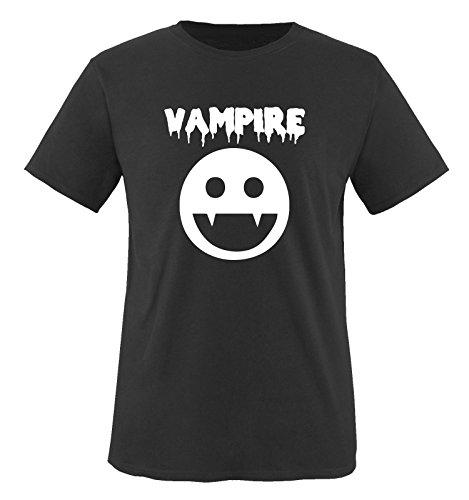 Paare Kostüm Comedy - Vampire KOSTÜM - Kinder T-Shirt Schwarz/Weiss Gr. 86-92