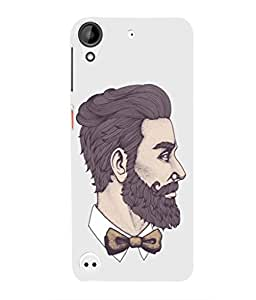 For HTC 530 -Livingfill- Hipster Hair and Beards Printed Designer Slim Light Weight Cover Case For HTC 530 (A Beautiful One of the Best Design with a Classic Theme & A Stylish, Trendy and Premium Appeal/Quality) (Red & Green & Black & Yellow & Other)
