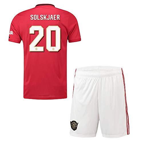 RG Personalisierte Fußball-Kits für Erwachsene Jugendjungen für Kinder, Anpassen 2019-2020 (Heim & Auswärts) Fußball Fußball-Trikot und Shorts und Socken Personalisierter Name und Nummer - United Manchester Auswärts