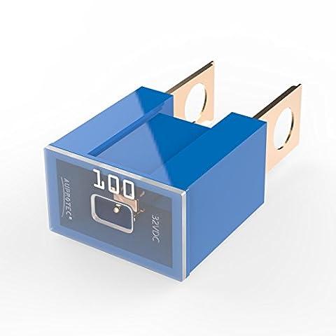 Auprotec® PAL B fusible bloque mâle OTO BT fusibles japonaises 30A - 140A choix: 100A Ampere bleu, 3 pièces