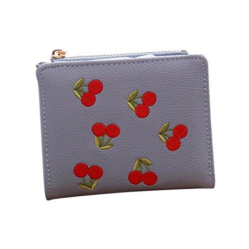 Sacchetto di moneta della ragazza del ricamo di OHQ, borsa della borsa della borsa della moneta del raccoglitore delle donne (Rosa) Blu