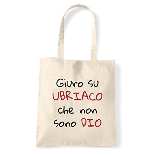 Art T-shirt, Borsa Shoulder Non Sono Ubriaco, Shopper, Mare Natural