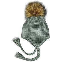 Mitlfuny Niños Niñas Sombreros de Punto Gruesa para Bebé Invierno Caliente  Gorro de Lana Orejeras Escorpion 184b6b2fc99