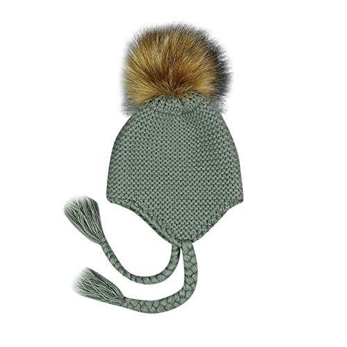 266902bf0 Mitlfuny Niños Niñas Sombreros de Punto Gruesa para Bebé Invierno Caliente Gorro  de Lana Orejeras Escorpion