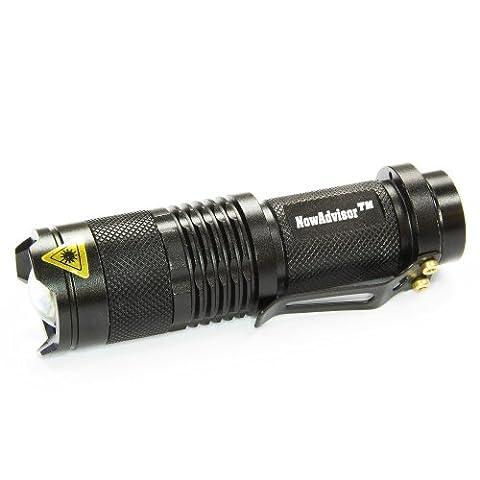 Lampe de Poche, NowAdvisor® Mini 7W 300LM Cree LED Flashlight