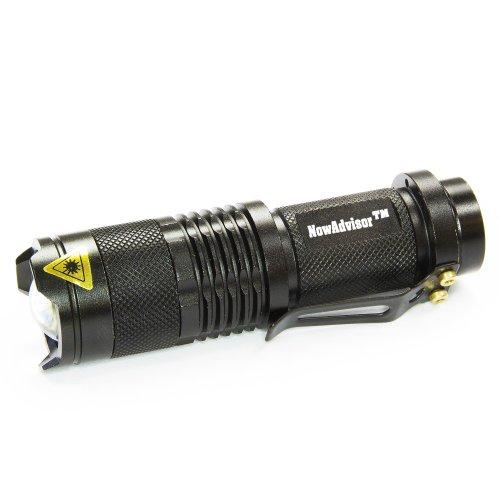 Preisvergleich Produktbild NowAdvisor®Mini 7W 300lm Cree LED Taschenlampe Einstellbarer Fokus Zoom Licht Lampe