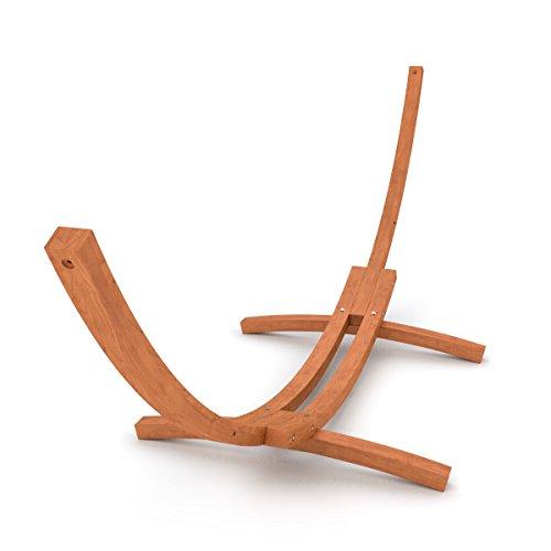 XL Outdoor Hängemattengestell 400 cm | Holz sibirische Lärche wetterfest | Gestell Madagaskar braun ohne Hängematte -