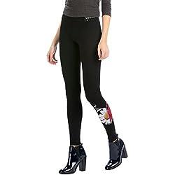 Desigual LEGGING_LAGUNA REP, leggings Mujer, Negro (NEGRO), 34 (Talla del fabricante: Small)