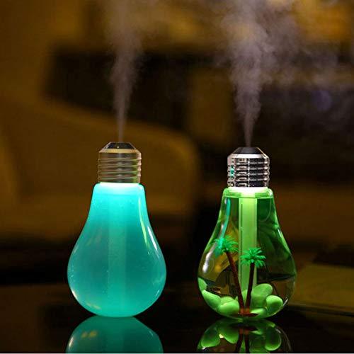 GKJRKGVF LED-Licht 7 Ribbon Pflanze Schlaf Birne dekorative Nachtlicht mit Diffusor wiederaufladbare Luftbefeuchter für Büro Geschenk Schlafzimmer