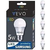 5er pack LED E27 5W A+ Lampe, 410 Lumen, Markenqualität, SMD2835 SAMSUNG, Warmweiß 3000K