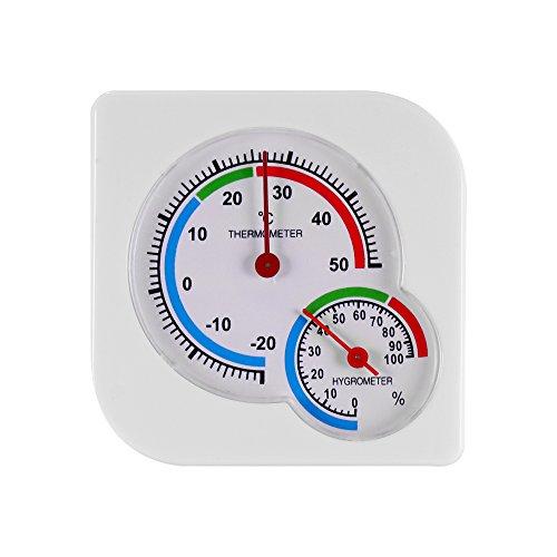 ONEVER Termometro di umidità Domestico Termometro analogico centigrado Igrometro Misuratore di umidita Termometro Misuratore di Temperatura (1PC)