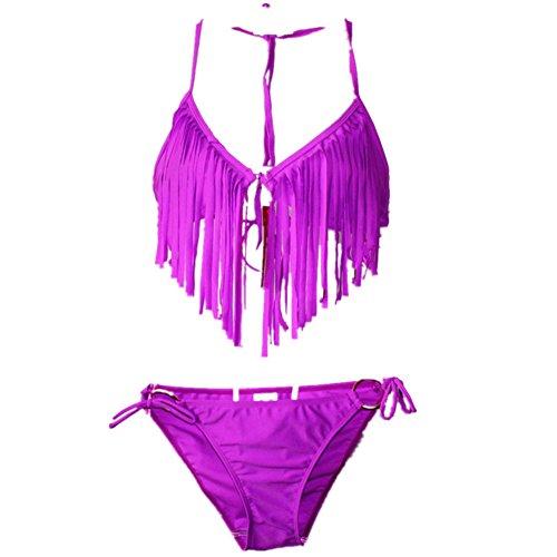 O-C da donna Macrame bikini set Purple