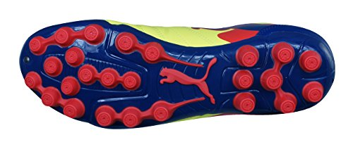 Puma PowerCat 4 AG Homme Chaussures de football - Noir Rouge yellow
