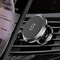 Syncwire Magnetische Auto Handyhalterung, 360 Grad Drehbare Lüftungs-KFZ Halterung Handyhalter Kompatibel mit iPhone XS Max Xr 8 Plus, Samsung Galaxy S10 Plus, Huawei P30 Pro, OnePlus 7 Pro, 1 Pack