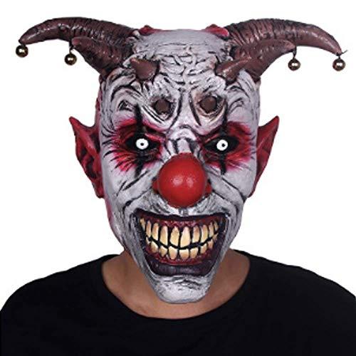 Clown Maske Für Erwachsene (Bell Clown Masken Horrible Scary Clown Mask Erwachsene Männer Latex Halloween Clown Evil Killer Demon Clown Mask)