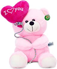 Tickles I Love You Balloon Heart Teddy, Pink (18 cm)