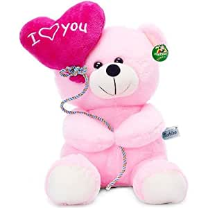 Tickles I Love You Balloon Heart Teddy Pink 18 cm
