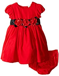 Little Me Baby Girls' Red Rose Dress and Panty