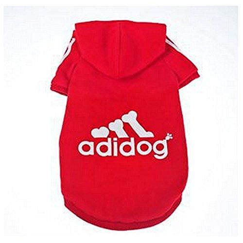 JUYUAN Adidog Hunde Warm Hoodies Mantel Kleidung Pullover Haustier Welpen T-Shirt,Sportliches Design Warme Kapuzenmantel-Mantel-Kleidung für großen Hund (Große Hund Kleidung)
