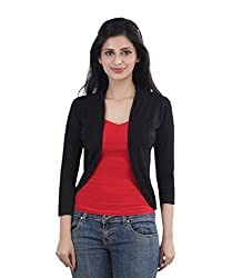 Bfly Women's Shrug (SHORTSHRUG-BLACKM_Black_Medium)