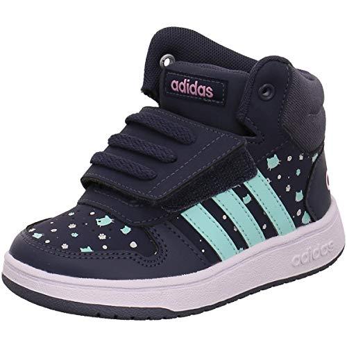 adidas Unisex Baby Hoops Mid 2.0 Sneaker Blau Trablu/Clemin/Ftwwht, 25 EU