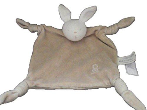 Obaibi / Okaidi - Doudou obaibi oladi lapin plat marron 4 nœuds tete blanc - 2580