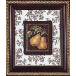 Pears on Toile kit punto croce