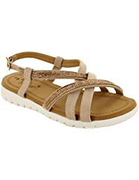 7012aac8c Dr Keller Womens Ladies Sandals Strappy Glitter Buckle Sizes 3 4 5 6 7 8  Summer