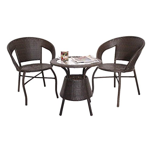 Unique360 Wix Outdoor Garden Patio Seating Set 1+2 2 Chairs And Table Set