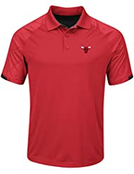 "Chicago Bulls Majestic NBA ""Excitement"" Men's Synthetic Polo Shirt Chemise"
