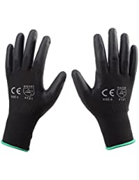 2 Pairs Of PU Coated Nylon Work Gloves All Sizes (10 / XL)