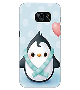 PrintDhaba Cute Penguin D-5297 Back Case Cover for SAMSUNG GALAXY S7 (Multi-Coloured)