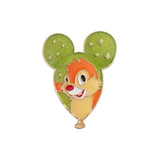 DaQao Brosche Tierbroschen Cartoon Niedlichen Affen Bär Eichhörnchen Ballon Metall Emaille Pin Brosche Für Frauen Modeschmuck