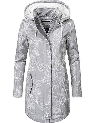 Windjacke Jacke Mantel (Peak Time Damen Softshell Mantel L60013 Grau019 Gr. L)
