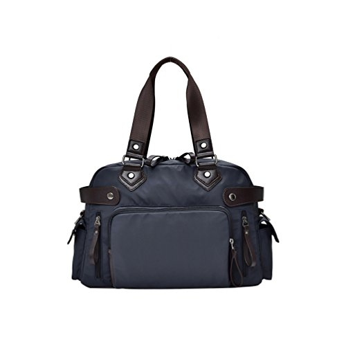 Vbiger Oxford Borsa da viaggio Borsa a mano di grande capacit¨¤ Elegante borsa a tracolla(Nero) Blu