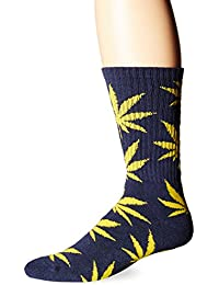 HUF Men's Plantlife Crew Sock, West Point Navy, One Size