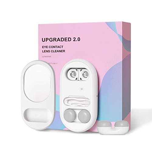 Inmorven Kontaktlinsen Ultraschallreiniger Automatisch Professionell Reinigungsgerät 2.0 für Kontakt Linsen 5 in 1| Tragbarer mit USB-Ladegerät | Keratin-Entfernung.Habe eine extra Ersatzbox
