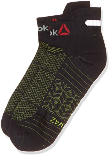 Reebok OS Run U Ankle Socks, Men's X-Small (Black) Pair of 1