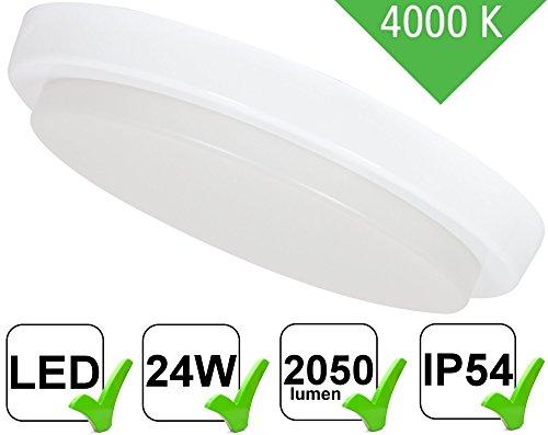 UltraSlim LED 24W ip54montaggio TV a schermo piatto rotondo-2050lm-per ambienti