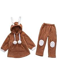 2 piezas Otoño caliente y pijamas de invierno Moda pijamas de las niñas