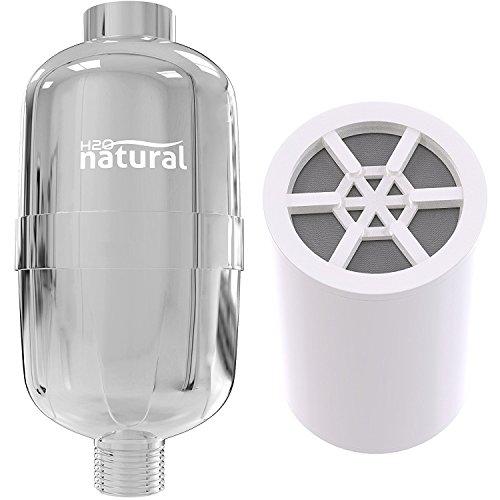 Shower Filter by H2O naturale High output cloro rimozione soffione sistema di filtrazione & Water Softener purificatore Cartuccia con KDF