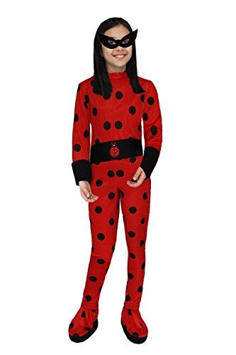 Pega-sus vestito costume maschera di carnevale - ragazza ladybug coccinella - taglia 4-5 anni