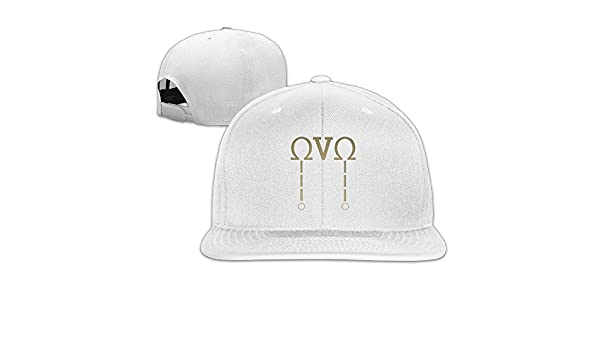 93e56eb71195a OVO Omega Drake  Black Flat Bill Baseball Caps Snapback Hat  Amazon.co.uk   Clothing