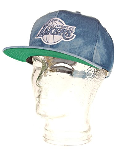 Herren Kappe Mitchell & Ness LA Lakers Fade Awady Dyed Denim Cap (Fade Denim Bekleidung)