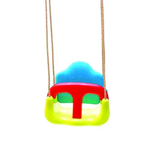 Cesta per altalene con sistema anticaduta per bambini in resina con corde