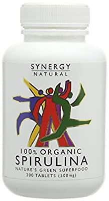 Synergy Natural Organic Spirulina - Pack of 200 Tablets from Xynergy Health Products