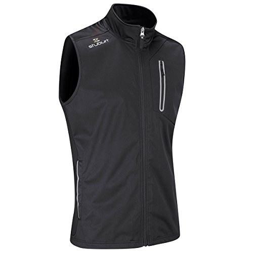 Stuburt Golf 2017 Mens Endurance Sports Thermal Full Zip WindProof Gilet Vest Black XL (Golf Weste)