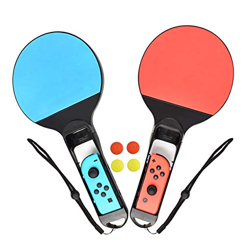 Turpow PingPong Racket for Nintendo Switch Joy-Con Controller Powtree Twin Pack Tennis Racket for Nintendo Switch Game Mario Tennis Aces