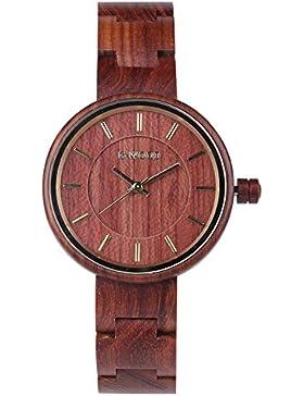 Montre Poignet en bois,YouGo Unisex orologio al quarzo colorato di bambù Holset Giappone Movimento per la Vita...