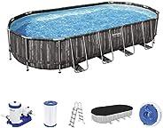 Bestway Pool Set Power Steel Oval 732X366X122Cm